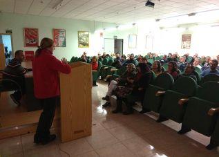 Imagen de la reunión de los sindicalistas, el pasado día 28