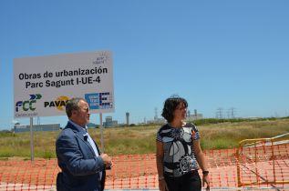 Francesc Fernández y Teresa García han visitado las obras de Parc Sagunt
