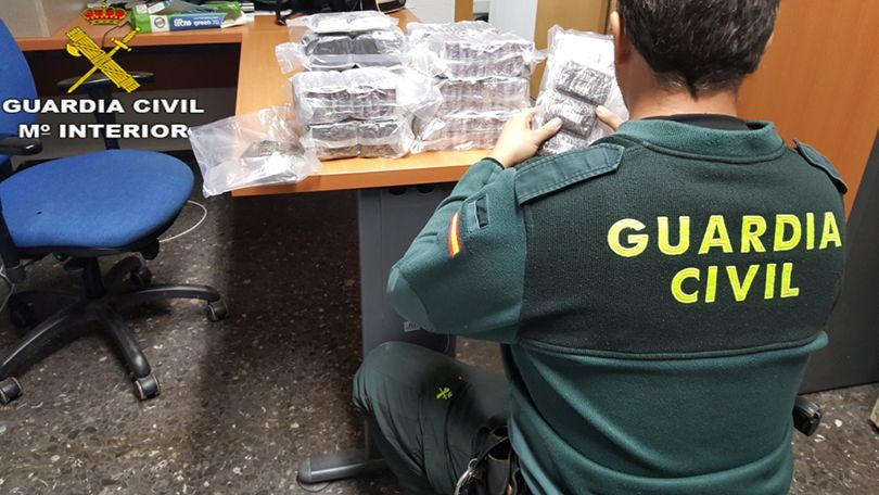 Parte de la droga incautado por la Guardia Civil