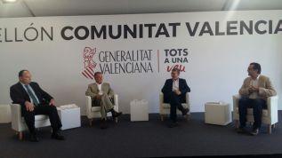 El conseller Rafa Climent durante la mesa debate celebrada en Alicante
